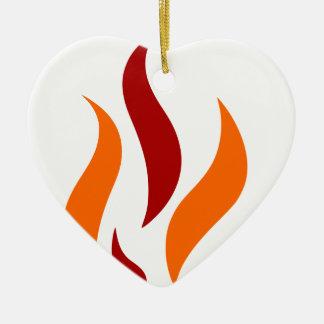 Ornement Cœur En Céramique Le Flamand parler oranges