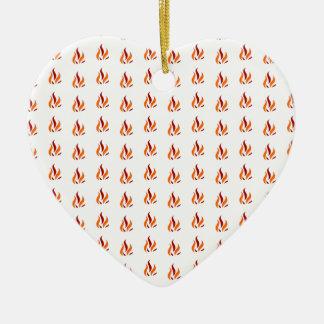 Ornement Cœur En Céramique Le Flamand Pattern parler oranges