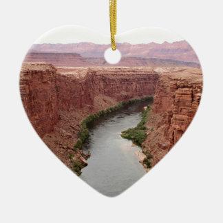 Ornement Cœur En Céramique Le fleuve Colorado près du pont de Navajo,