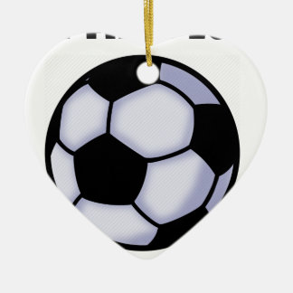 Ornement Cœur En Céramique le football