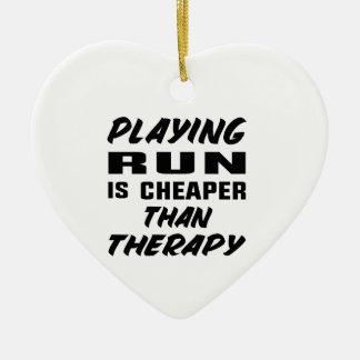 Ornement Cœur En Céramique Le jeu couru est meilleur marché que la thérapie