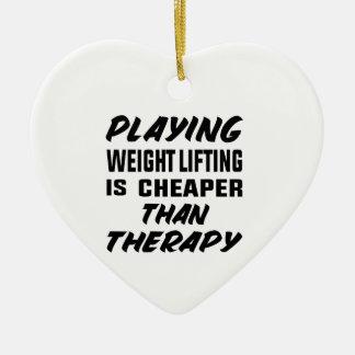 Ornement Cœur En Céramique Le jeu de l'haltérophilie est meilleur marché que