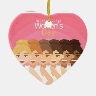 Ornement Cœur En Céramique le jour des femmes internationales