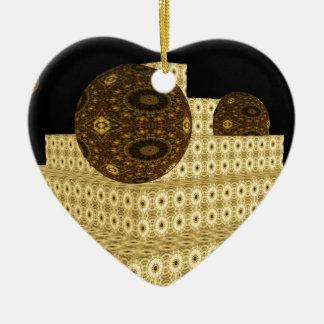 Ornement Cœur En Céramique Le kaléidoscope 3D fait un pas et des globes,