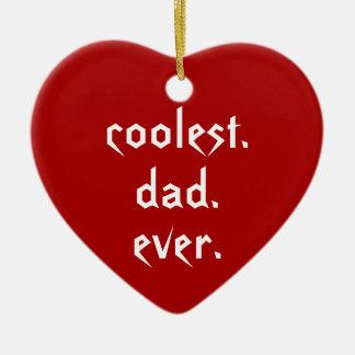 Ornement Cœur En Céramique Le père toujours rouge de papa le plus frais de