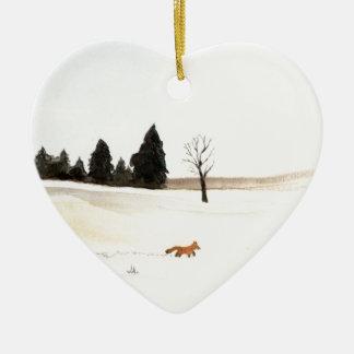 Ornement Cœur En Céramique Le petit Fox