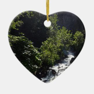 Ornement Cœur En Céramique Le pionnier tombe butte Alaska