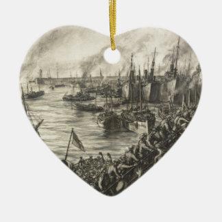 Ornement Cœur En Céramique Le retour de Dunkerque