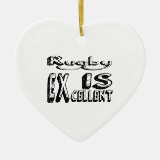 Ornement Cœur En Céramique Le rugby est excellent