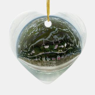 Ornement Cœur En Céramique Le schéma minuscule 8 île, la Caroline du Nord de