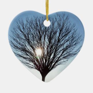 Ornement Cœur En Céramique le soleil d'hiver