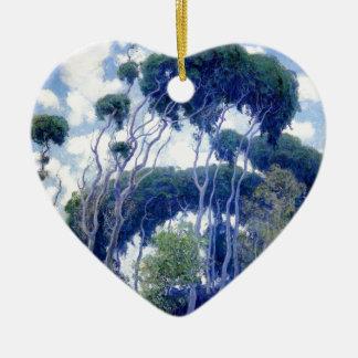 Ornement Cœur En Céramique Le type s'est levé - eucalyptus de Laguna - chef
