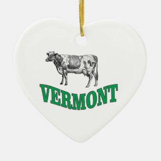 Ornement Cœur En Céramique le Vermont vert