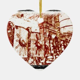 Ornement Cœur En Céramique Légionnaire romain…