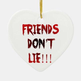 Ornement Cœur En Céramique Les amis ne se trouvent pas !