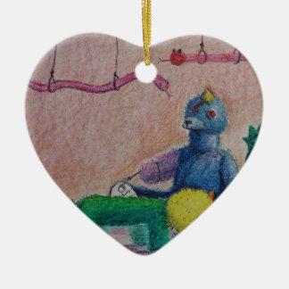 Ornement Cœur En Céramique Les animaux de Gracie