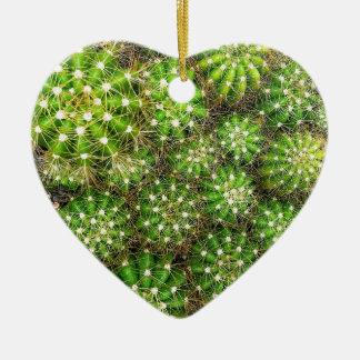 Ornement Cœur En Céramique Les cactus Dble-ont dégrossi coeur Ornanent