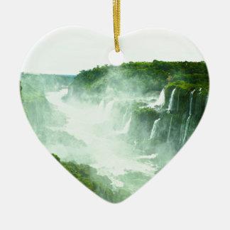 Ornement Cœur En Céramique Les chutes d'Iguaçu