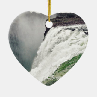 Ornement Cœur En Céramique Les chutes Victoria