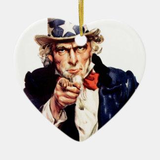 Ornement Cœur En Céramique les Etats-Unis