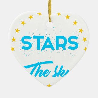 Ornement Cœur En Céramique Les étoiles laissées allument le ciel