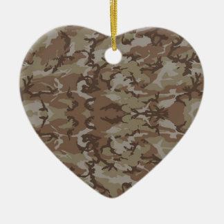 Ornement Cœur En Céramique Les militaires camouflent le désert