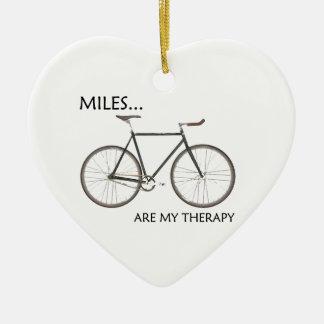 Ornement Cœur En Céramique Les milles sont ma thérapie
