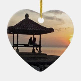 Ornement Cœur En Céramique Lever de soleil de Beautidul dans Bali