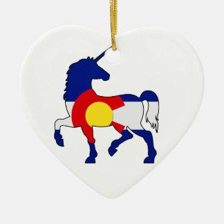 Ornement Cœur En Céramique Licornes et Colorado !
