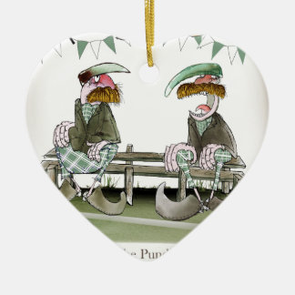 Ornement Cœur En Céramique l'Irlandais folâtre des pandits