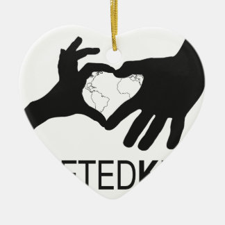 Ornement Cœur En Céramique Logo riveté d'enfants