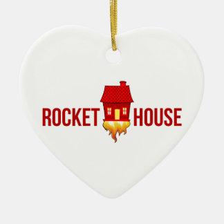 Ornement Cœur En Céramique Logo T de RocketHouse