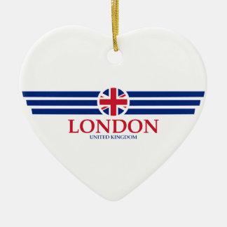 Ornement Cœur En Céramique Londres