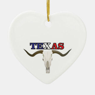 Ornement Cœur En Céramique longhorn mort du Texas