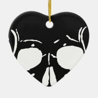 Ornement Cœur En Céramique L'os de crâne désosse éffrayant déplaisant