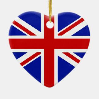 Ornement Cœur En Céramique love drapeau Angleterre