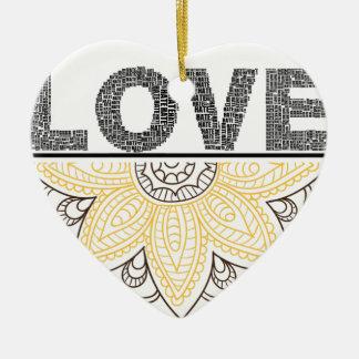 Ornement Cœur En Céramique love l'envoyez