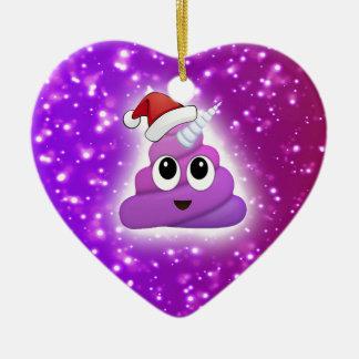 Ornement Cœur En Céramique Lueur mignonne d'Emoji de dunette de licorne de