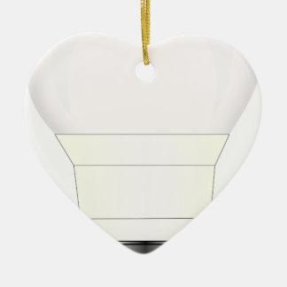 Ornement Cœur En Céramique Lumière d'ampoule menée