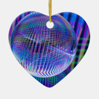 Ornement Cœur En Céramique Lumières croisées de Criss