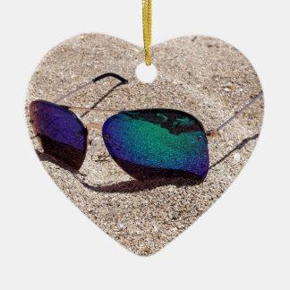 Ornement Cœur En Céramique Lunettes de soleil