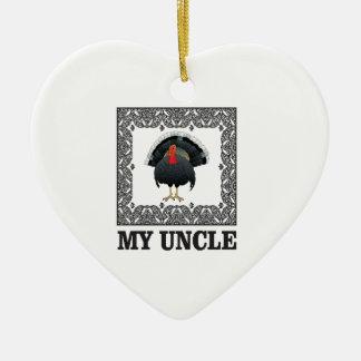 Ornement Cœur En Céramique ma boîte à dinde d'oncle