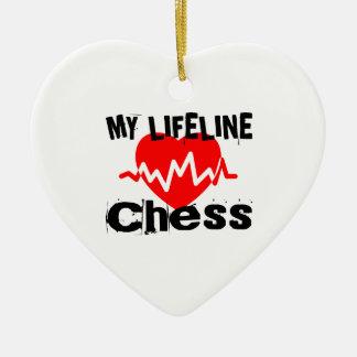 Ornement Cœur En Céramique Ma ligne de vie échecs folâtre des conceptions