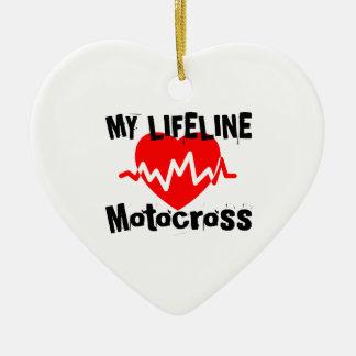 Ornement Cœur En Céramique Ma ligne de vie motocross folâtre des conceptions