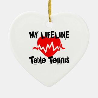 Ornement Cœur En Céramique Ma ligne de vie ping-pong folâtre des conceptions