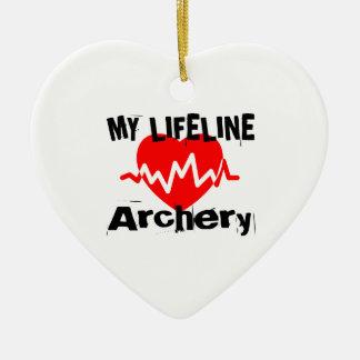 Ornement Cœur En Céramique Ma ligne de vie tir à l'arc folâtre des