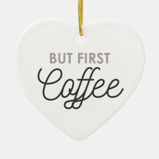 Ornement Cœur En Céramique Mais premier café