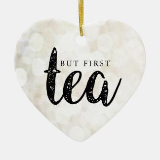 Ornement Cœur En Céramique Mais premier thé