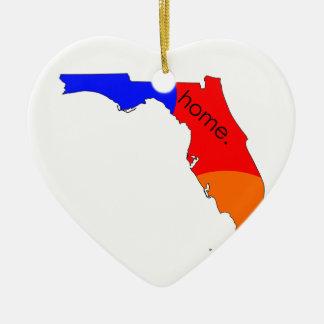 Ornement Cœur En Céramique Maison de la Floride