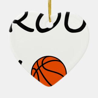 Ornement Cœur En Céramique Maman de basket-ball